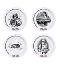 ABYstyle - Star Wars - Set di 4 Piatti - Join The Dark Side - Dart Vader - Stormtrooper - Death Star