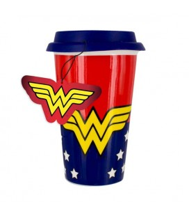 DC COMICS - WONDER WOMAN TRAVEL MUG / TAZZA DA VIAGIGO - 450 ML