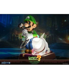 FIRST 4 FIGURES - LUIGI'S MANSION 3 - PVC STATUE - LUIGI & POLTERPUP - COLLECTOR'S EDITION 23 CM