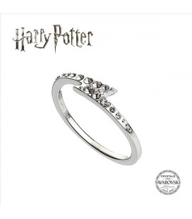 ANELLO SWAROVSKI - LIGHTENING BOLT- HARRY POTTER IN ARGENTO - TAGLIA L