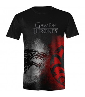 Game of Thrones - T-Shirt Sigil Face Off - Taglia:XL - BLACK -