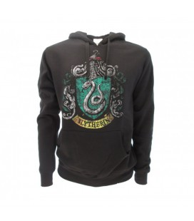 Warner Bros - Felpa Harry Potter Serpeverde con cappuccio - size XL