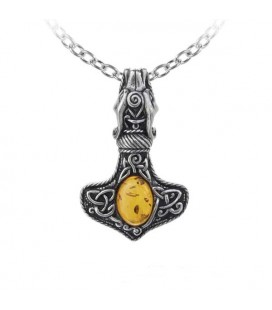 Alchemy England- Collana P728 Amber Dragon - Thorhammer