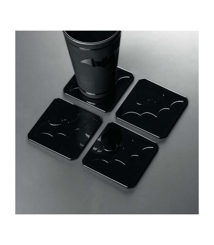 1X9X9 CM SOTTOBICCHIERI METALLICI BATMAN METAL COASTERS SET 4 PC