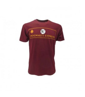 Warner Bros -T-Shirt Harry Potter Hogwarts Express Bordeaux taglia S