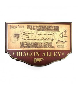 Noble Collection - Harry Potter - Diagon Alley Plaque - Targa in legno Diagon Alley
