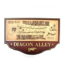 Noble Collection - Harry Potter - Diagon Alley Plaque - Targa in legno Diagon Alley