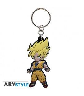Portachiavi Goku Super Sayan - Dragonball Z - 6,9 x 3,1 cm - Abystyle