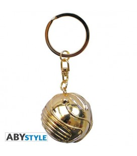 HARRY POTTER - KEYRING/PORTACHIAVI 3D - BOCCINO D'ORO/GOLDEN SNITCH