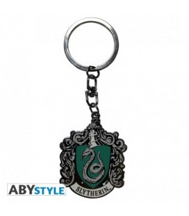 "HARRY POTTER - PORTACHIAVI/KEYRING - STEMMA/BADGE ""SERPEVERDE"""
