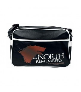 "AbyStyle - Game of Thrones - Il Trono di Spade - Messenger bag ""The North Remembers"" - Vinyl - Borsa grande con tracolla"
