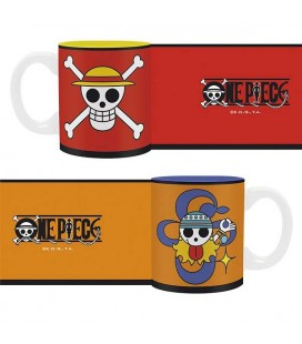 "ONE PIECE - SET 2 MINI MUGS/TAZZE - ""RUBBER & NAMI"""