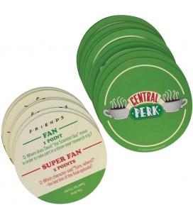 Friends - Central Perk - Trivia Quiz Coaster - Gioco Sottobicchieri Ufficiale - Paladone - 20 pz - 15 x 10,2 x 2,5 cm