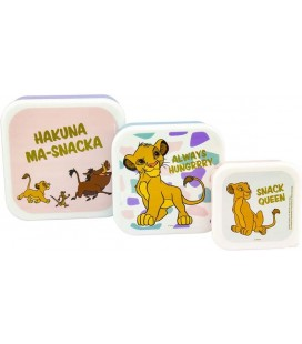 The Lion King - Il Re Leone - Disney - Paladone - Set 3 Box - Snack - Set per Alimenti - PVC - 13,5 x 6,5 cm