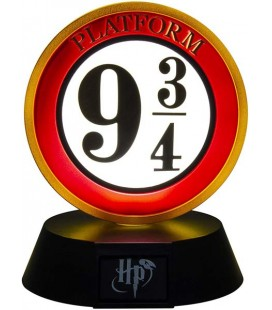 Harry Potter - Paladone - Lampada Binario 9 3/4 Insegna - Icona - Led - Usb - 11 Cm - Pvc