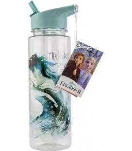 Frozen 2 - Paladone - Bottiglia - Borraccia - Water Bottle - Ermetica - 650 Ml - PVC - 24 Cm