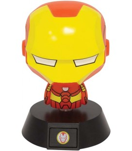 Iron Man - Paladone - Lampada - Lamp - Light - Icona - Avengers - Tony Stark - Led - Usb - Batterie - 11 Cm - Pvc