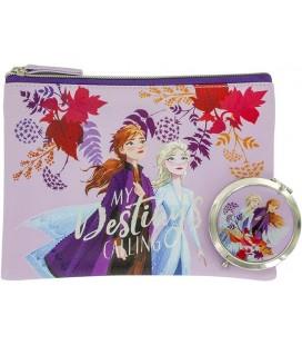 Frozen 2 - Paladone - Set 2 Pcs - Disney - Trousse e Specchio - Mirror - Anna - Elsa - Olaf - PVC - 13,5 x 6,5 cm