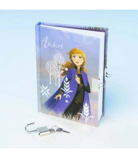 Frozen 2 - Disney - Anna Secret Diary - Diario Segreto Anna - Con Lucchetto - Padlock and key - A6