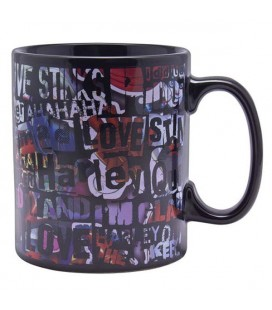 Harley Quinn - Paladone Products - Dc Comics - Tazza Termica Cambia Colore - Heat Change Mug - 300 Ml - Ceramica