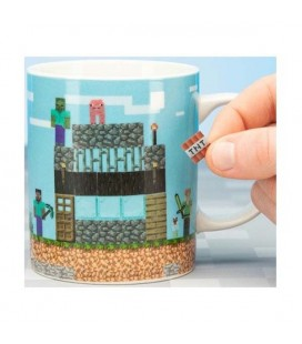 Minecraft - Paladone Products - Build a Level Mug - Tazza Costruisci Il Tuo Livello - 10 Cm - Ceramica - 300 Ml