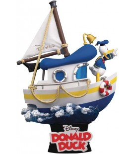 Paperino - Donald Duck - Disney - Nave - Boat - 15 cm - Diorama - Action Figure - Pvc