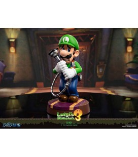 FIRST 4 FIGURES - LUIGI'S MANSION 3 - PVC STATUE - LUIGI - SUper Mario - Standard Edition 23 CM