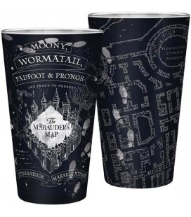 ABYstyle - Harry Potter - Bicchiere XXL - 400 ml - Mappa del Malandrino - Marauder's Map - Glass - Large Glass - Vetro