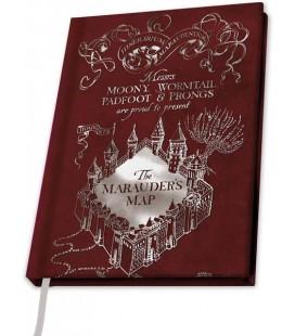 Harry Potter - ABYstyle - taccuino - A5 - Quaderno Mappa del Malandrino - Marauder's map - 180 Pg