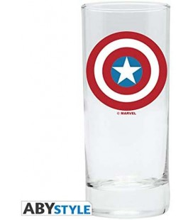 Capitan America - Captain America - Bicchiere - ABystyle - Marvel - Glass - 290 Ml - 14 Cm