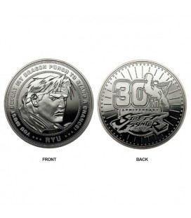 Street Fighter - Capcom - Limited Edition Coin - 30Th Anniversary - Celebration- Ryu - Official