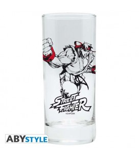 Street Fighter - Bicchiere - Abystyle - Ryu Shoryuken - Glass - 290 Ml - 14 Cm