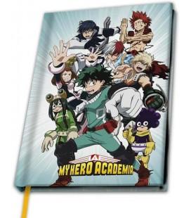 Quaderno con protagonisti di My Hero Academia - formato A5 - 180 Pagine - 21,7 cm x 15,5 cm
