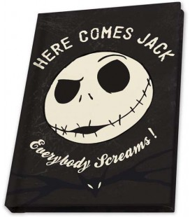 The Nightmare Before Christmas - Disney - Abystyle - A6 - Quaderno Jack Skellington -Fosforescente - Glow in the dark - 160