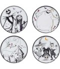 The Nightmare Before Christmas - Set di 4 Piatti - Abystyle - Porcellana - Jack, Sally, Zero,Lock, Shock, Barrel, or even Oogi