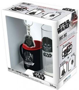 ABYstyle - Star Wars -Disney - Confezione di Dart Fener - Bicchiere + Portachiavi + Mini Tazza - gift box