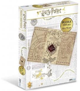 Harry Potter - Abystyle - Puzzle - Jigsaw - Maradeur's map - Mappa del Malandrino - 1000 pcs - 50x70 cm