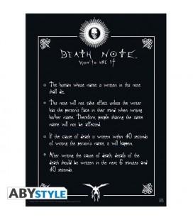 Death Note - Poster - Wallpaper - Abystyle - Ufficiale - Regole del Diario - Rule - 52 x 38 cm