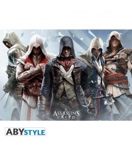 Assassin's Creed - Poster - Wallpaper - Abystyle - Ufficiale - Gruppo - 91,5 x 61 cm
