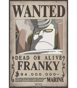 One Piece - Franky Wanted - Poster - Wallpaper - Abystyle - Ufficiale - 52 x 38 cm - carta laminata 170 gr