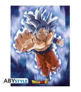 Dragon Ball Super - Goku Ultra Instinct Istinto - Poster - Wallpaper - Abystyle - Ufficiale - 52 x 38 cm - carta laminata 170