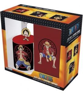 One Piece - Luffy - Gift Box - Confezione Regalo - Tazza Mug 320 Ml - Notebook Quaderno A6 - Pvc Keychain Portachiavi