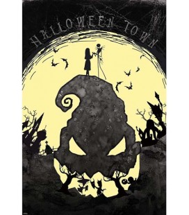 The nightmare Before Christmas - Jack Skellington - Disney- Poster - Wallpaper - Abystyle - Ufficiale - 91,5 x 61 cm - carta