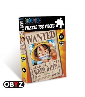 One Piece - Monkey D. Luffy - Rufy - Rubber - Obyz - Puzzle - Jigsaw - 100 pcs - 28 x 40 cm