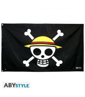 One Piece - Bandiera - Flag - Skull - Luffy - Abystyle - Pvc Altamente Resistente - 120 x 70 Cm