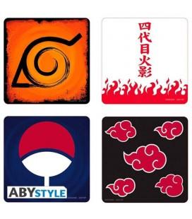 "Set di 4 sottobicchieri da Naruto Shippuden - ""Emblems"" Coasters - di AbyStyle"