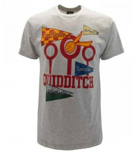 T-Shirt - Harry Potter Quidditch - Grigio tg.M - Warner Bros