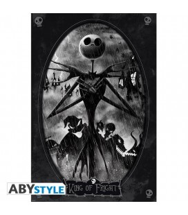 Poster - The Nightmare Before Christmas - Ritratto di Jack bianco/nero - 91 x 61 cm