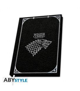 "Quaderno Stark ""Winter is Coming"" - Game of Thrones (Copertina rigida, formato A5)"