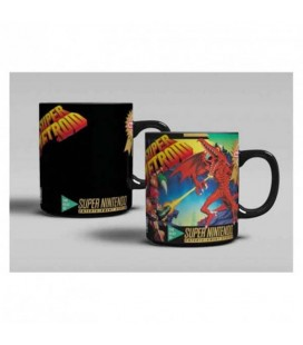 "SUPER METROID - MUG HEAT CHANGE/TAZZA TERMICA ""SUPER METROID SNES"""